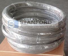 Titanium coiled wires