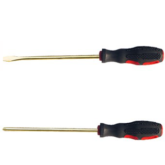 BE0952 Beryllium Copper Spark-Proof Screwdriver(Slotted/Phillips)