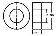 FE2419 Nanocrystalline Circular Cut Core